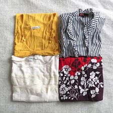 LOT OF 4 Forever 21 size SMALL multi-print lightweight blouse tank top shirt