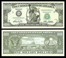 Set of 3 - The Traditional One Million Dollar Bill. Great Novelty Bill!