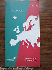ITALY International Train Timetable Orario Internazionale Fahrplan 1998-1999