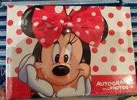 AUTOGRAPH BOOK / Livre d'autographes MINNIE NOEUD Disneyland Paris