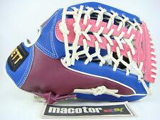 "ZETT Special Crown 13"" Outfield Baseball / Softball Glove Purple Blue White RHT"