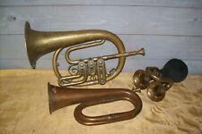 alte Blechblasinstrumente ( 3 Stück )