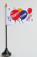 Party Time Polyester Table Desk Flag