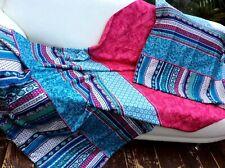 2x Bassetti Satin Bettwäsche PORTOFINO türkis pink 135x200/80x80 BETTGARNITUR