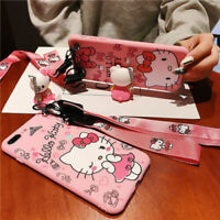 Hello Kitty Silicone Rubber Case w/Lanyard For iPhone Xs Max & iPhone XR - Pink