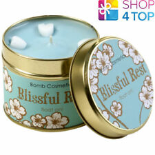 BLISSFUL REST TINNED CANDLE TIN BOMB COSMETICS CITRUS SCENTED NEW
