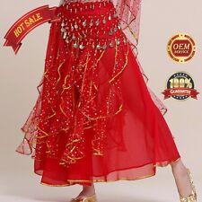 New Professional Belly Dance Costume Waves Skirt Dress up tassel Skirt Carnival