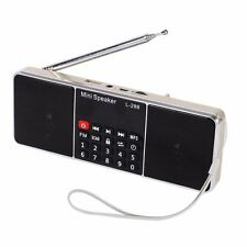 Portable Digital LCD FM Radio Stereo Audio Speaker MP3 Music Player USB AUX TF