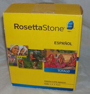 Full ROSETTA STONE Spanish / Espanol  Level 1-5 Set W/ Headset HOMESCHOOL CD DVD