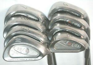 Ping Eye 2+ irons 3-PW with Ping JZ stiff flex steel shafts red dot
