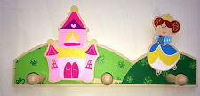 Garderobe Gaderobenhaken Kindergaderobe Prinzessin Schloß Kinderzimmer Holz neu