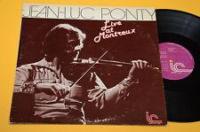 JEAN LUC PONTY LP SONATA EROTICA LIVE MONTREAUX ORIG USA 1976 EX ! TOP AUDIOFILI