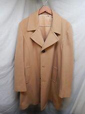 Men's Silver Cloud Tan 80% Wool 20% Nylon 42 Long Jacket