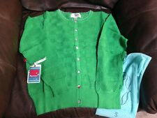 Matilda Jane Good Hart Green Field Days Cardigan S Womens Adult NWT Button small