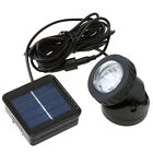 Waterproof Solar Powered LED Spotlight Spot Light Lamp Garden Pool Pond Outdoor