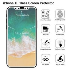 iPhone X Premium Tempered Glass Screen Protector - Full Coverage - 9H - White UK