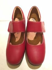 RED RIVERSOFT MARYJANE WEDGES SHOES COMFORT SOLE SZ 38
