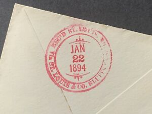 1894 SEATTLE WA DUPLEX + ST LOUIS MO RED FANCY RAILROAD ! ST LOU & COUNCIL BLUFF