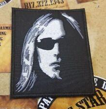 Tom Petty black & grey silhouette patch
