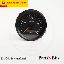 VDO INTERNATIONAL TACHOURMETER 12/24V 85mm 4000 RPM 333035013 tachour-tacho