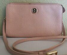 TORY BURCH Women 'Robinson' Pebbled Leather Crossbody Zip Wallet Handbag