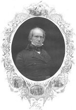 Secretary of State Kentucky Senator HENRY CLAY ~ Old 1858 Art Print Engraving
