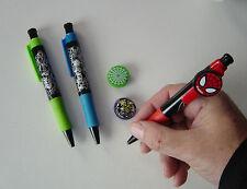 SPIDERMAN 3 SET DI PENNE CON 3 CLIP TOPPER, Ideale Party Bag articolo, Marvel, sinister6