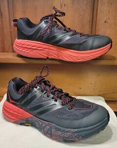 Hoka One One Men's Sz 9.5 /42 Speedgoat 3 Sneakers Gray/Orange Removable insoles