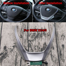 Chrome Steering Wheel Panel Cover Trim for BMW X3 F25 X4 F26 X5 F15 2014-2016
