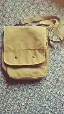 Heavy Canvas Tech Bag Military Map Case Shoulder Pack Tablet Carry Pouch Tan