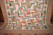 Handmade Vintage Cottage Cotton Bed Top Cover Quilt - Double Single Size