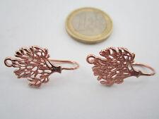 1 paio monachelle per orecchini albero della vita arg. 925 plk oro rosè