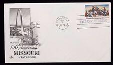 1971 FDC 150th Anniversary Missouri Statehood 8 Cent Stamp #1426