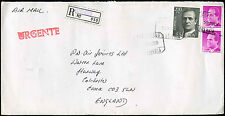 Spain 1989 Registered Airmail Commercial Cover To England #C30933