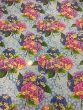 Budding Beauties Bouquet 120-550 100% Cotton Fabric Quilting Craft Ro Gregg Blue