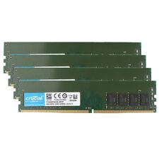 4pcs Crucial 4GB DDR4 2400T PC4-19200 2400Mhz RAM UDIMM Desktop Memory 288pin