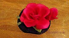 Vintage Capodimonte Napoleon Porcelain Pink Rose Flower Figurine with bud~ Italy