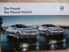 VW Passat +Variant Typ3G Prospekt +R-Line Zubehör Catalogue 10/2015 NEU