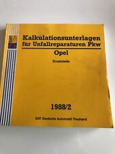 Unfallschaden Reparatur Kalkulation DAT Kalkulationsunterlagen Opel 1988