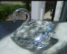 "New ListingSwarovski Crystal Large Swan Figurine Retired 2 7/8"" x 2"" No Box"