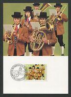 LIECHTENSTEIN MK TRACHTEN KAPELLE COSTUMES MAXIMUMKARTE MAXIMUM CARD MC CM d5192