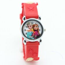 Princess elsa anna Cartoon Watch 3D Children Kids Quartz Wristwatches Clock