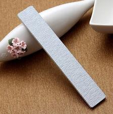 10 X Nail Files Buffing Grey Square Grit Sandpaper Nail Art Acrylic UV Gel Tips