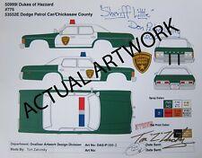 1:64 Johnny Lightning Dukes of Hazzard Sheriff Little Dodge Monaco ARTWORK