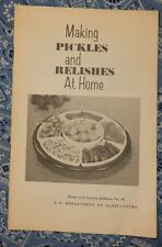1970 Making Pickles and Relishes at Home Sauerkraut USDA Bulletin