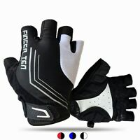 Cycling Half Finger Gloves Sport Gel Gloves Breathable Road MTB Bike Bicycle Men