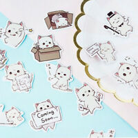 45Pcs Cute Cat Sticker Decoration Stationery Stickers DIY Diary Label Box-packed
