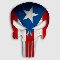 Sticker Puerto Rico Punisher Skull Window Truck Car Yeti Cup Puerto Rican Decal