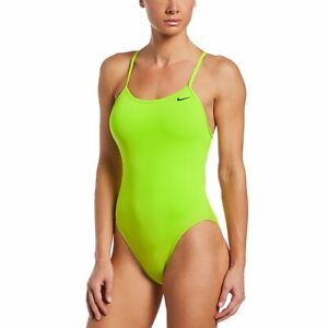 Nike Swim Women's Swimsuit Poly Solid Lace Up Tie Back One Piece