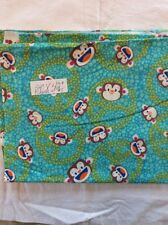 "Green/yellow With Monkeys soft cozy Flannel Nursery Fabric 24"" By 42"" Wide"